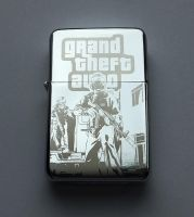 GRAND THEFT AUTO - GTA - engraved lighter by Piciuu