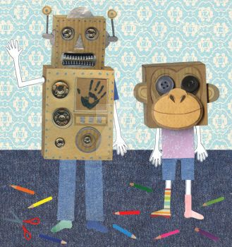 Cardboard boxes. by illustrationgirl