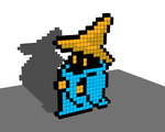 Black Mage 8 Bit Voxel by todd102030