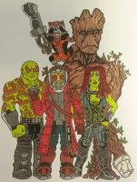 bunch of A-Holes commission piece by Anj-The-Mad-Titan