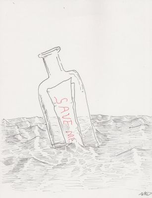 Message in a Bottle by SpazzReflex