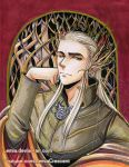 Copic Marker Thranduil by LemiaCrescent