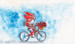 Knockout's Red Bike by The-Starhorse