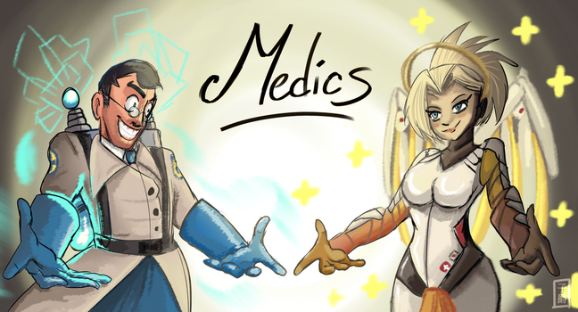 OVER FORTRESS Medic Vs Mercy by Amely14128