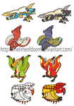 Monster hunter subs and rares chibis 4 by thelimeofdoom