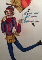FNAF 2 Balloon Boy (colored) by VostokLucini