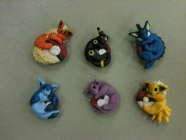 Eevee Evolution Pendants by LittleBachman