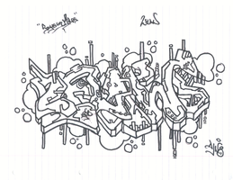 "Blackbook sketch 4 ""2flaw"" by djn8"