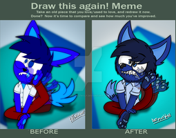 Draw this Again! meme by AntimozWolf