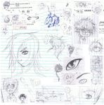 2012-2013 Lined Paper Sketches by animeJesusFREAK
