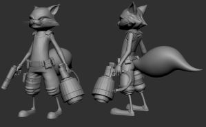 Rocket Raccoon WIP by TheStoff