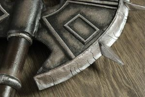 Cosplay Props: Axe of Sankis (close up) by LittleBlondeGoth