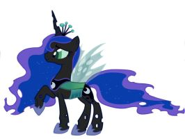 Princess Luna as a Changeling by zarael112