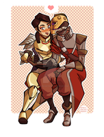 COMMISSION: Naoko and Helina by spacerocketbunny