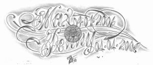 chicano script children tat by 2Face-Tattoo