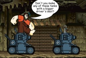 Ralph Ventures Into Metal Slug by Hexidextrous