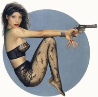 Michelle Trachtenberg with Gun by CatK06