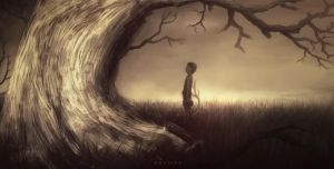 Boy and The Looming Tree by Wraifen