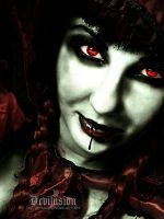 Those bloodred Eyes: II by D3vilusion