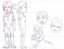 Chell Model Sheet by FLAMINGPINECONE