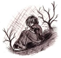lone boy by Harpyqueen