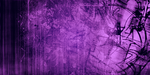 Twitter Cover - Purple Grunge by YoniSendrix