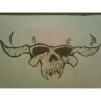 Danzig Skull Drawing by PhantomTwilightWind