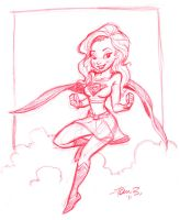 Supergirl Sketch by tombancroft