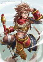 [Commission] Rule 63 Wukong by Exaxuxer