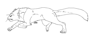 Running Cat Lineart by Reichlyn