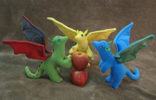 Three Little Dragons But Only Two Apples by Skylanth