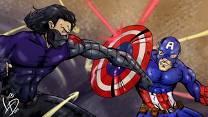 Captain America VS Winter Soldier by LucasDuimstra