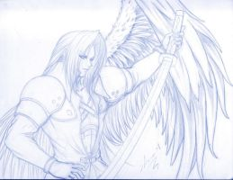 Tercer Sephiroth-Sketch by Setsuna-Yagami