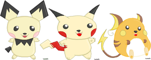 Pikachu Family by tenko72