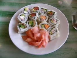 Sushi, buffet style by Cassini90125