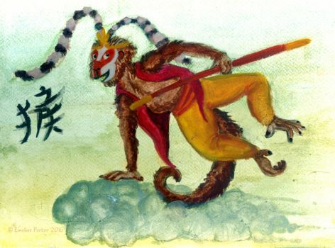 2016 year of the monkey (Sun Wukong) by acidshadow
