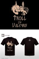 Troll vs valkyrie - T-shirt by Ryoishen