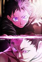 DEADMAN WONDERLAND - Ganta V Crow COLLAB (UPDATED) by EspadaZero