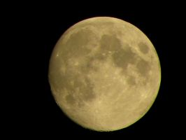 Almost Full Moon by Agatje