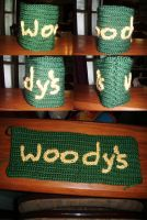 Woody's Social Club Cooler Cup Cover- Christmas! by Ambrosial-Wolf