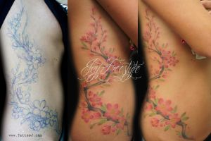 Tattoo Cherry blossom by Tattoo-J
