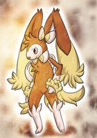 C: Sylveon+Lopunny Fusion by Skeletpengu