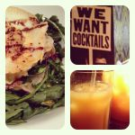 129 Goats Cheese Salad and Cocktails by DistortedSmile