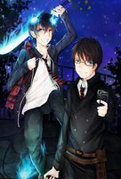 Ao no Exorcist by ryetou