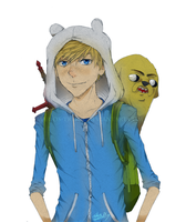 Finn and Jake by Marios-Tri4ce