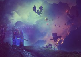 Attack of the Dragons by UntamedUnwanted