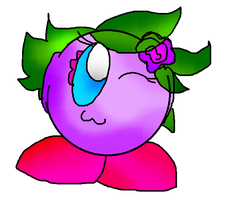 NEW OC: Orchid the Purple Kirby by Blackbirdo29