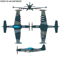 Piper PA-48 Enforcer by bagera3005