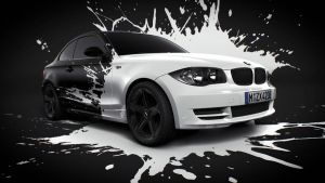 BMW White splash by MUCK-ONE