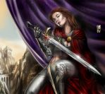 Red Sonja, at rest by scarypet